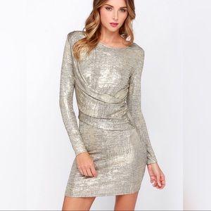 Olive & Oak Young Money Gold Dress